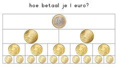 1 euro betalen ,prettig als je begint met geld rekenen