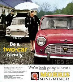 Morris Mini Minor advert #Mini #MorrisMini