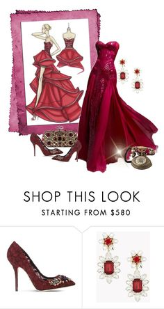 """""""Versace Evening"""" by ahapplet ❤ liked on Polyvore featuring Versace, Dolce&Gabbana, Dsquared2, versace and ahapplet"""
