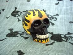 Fire Black Skull Shift Knob