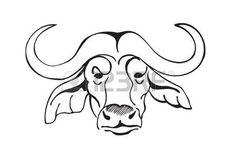97895560cd370 African Buffalo, Black And White, Big 5, Illustration, Black White, Black