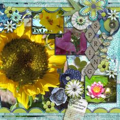 I love the colors of spring!!  It's so much fun to walk out in the back yard each morning and see what God has in store for the day.  I used Just Because Studio-Fresh Air Bundle found here: http://store.gingerscraps.net/Fresh-Air-Bundle.html and a template from Seatrout Scraps new May Medley template bundle found here:  http://store.gingerscraps.net/May-Medley-4-Template-Grab-Bag.html