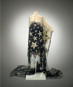 "1926, America - ""Starry Night"" Costume - Silk crêpe, rhinestones, sequins"