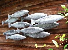 """Rustic """"Shoal Of Fish"""" Metal Wall Art.   eBay"""
