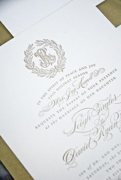 Beautiful invitation. This is something we could definitely work the crest into!!!