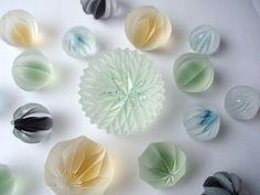 Pin by Sou on デザイン Clear Glass, Glass Art, Glass Beads, Pretty Art, Resin Crafts, Lampwork Beads, Bead Art, Asian Art, Ceramic Art