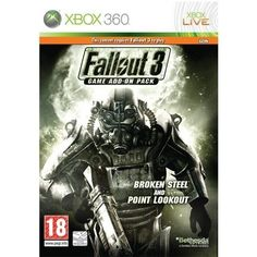 Fallout 3 Add-on Broken Steel and Point Lookout Point Lookout, Fallout 3, Xbox 360 Games, Board Games, Ads, Steel, Retro, Microsoft, Videogames