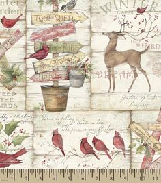 Holiday Inspirations Fabric Susan Winget Solemn Nature Christmas