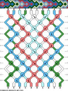 Необычные Схемы фенечек из 2 цветов Потолки