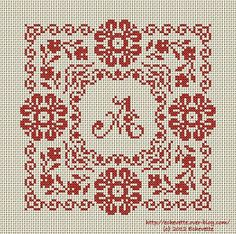 Floral Square · Cross-Stitch | CraftGossip.com