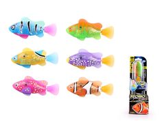 LED Robo Fish - these awesome gizmos are fitted with LED lights which means that they glow as they swim.