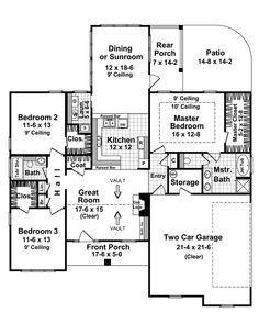 2 story house plans with sunroom - House design plans