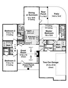 Beautiful dining or sunroom! - Plan 077D-0094 | houseplansandmore.com