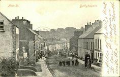 My paternal ancestral home, Ballyhaunis, County Mayo, Ireland. County Mayo, Irish Roots, Old Postcards, Ireland Travel, Main Street, Family History, Old Photos, Wander, Maine