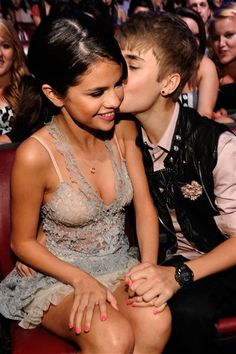 justin bieber and selena gomez, there are just freckin' cute together & no i'm not a bieber ;)