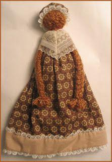 Art Education Daily: craft project: prairie, yarn, rag doll