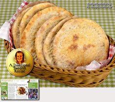 Soft Swedish Flat Bread / Tunnbröd