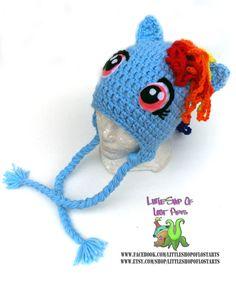 Rainbow dash my little pony MLP inspired by LittleShopOfLostArts, $28.00