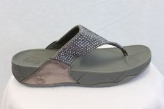 FitFlop Fit Flops Rokkit Silver Nova Crystal Toning MSRP $100 NEW FREE SHIP #FitFlop #FlipFlops