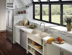 The Haysfield kitchen faucet  with Spot Resist finish.  #kitchenredesign #moenkitchen #interiordesign