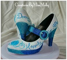 Excited to share the latest addition to my #etsy shop: Cinderella Inspired Customised Wedding Shoes/ Disney Shoes/ Wedding Shoes/ Prom Shoes/ Glitter Shoes/ Sparkly Shoes http://etsy.me/2CYdMzm