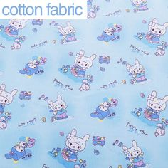1 meter Rabbit cartoon printed 100% cotton fabric for sewing,soft baby cotton fabric for bedding,sale for meter,Width 160 cm-in Fabric from Home & Garden on Aliexpress.com | Alibaba Group