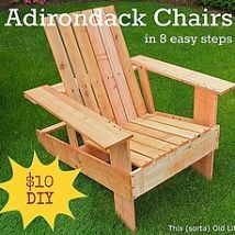 Easy, Economical Diy Adirondack Chairs: $10, 8 Steps, 2 Hours