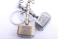Unisex Accessories Marvel Comics The Avengers Thor's Hammer Brass Silver Pendant Key Chain Kry Ring Thor Hammer Keychain, Thor's Hammer Mjolnir, Thors Hammer, Pendant Jewelry, Jewelry Sets, Hammer Car, Metal Necklaces, Decoration, Key Rings