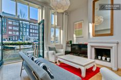 Vacation Apartment Rental in Amsterdam - Living room with balcony