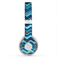 The Thin Striped Blue Layered Chevron Pattern Skin for the Beats by Dre Solo 2 Headphones Dre Headphones, Beats By Dre, Laptop Covers, Laptop Skin, Computer Accessories, Blue Stripes, Chevron, Bubbles, Technology