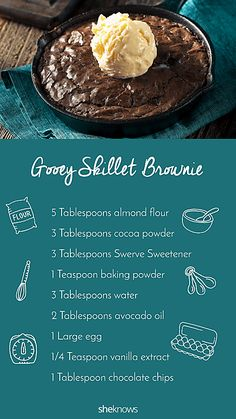 Pin it! Low-carb gooey skillet brownie for two Pin it! Low-carb gooey skillet brownie for two Low Carb Deserts, Low Carb Sweets, Low Carb Treat, Brownie Recipes, Keto Recipes, Dessert Recipes, Quick Keto Dessert, Keto Desserts, Brownie Ideas