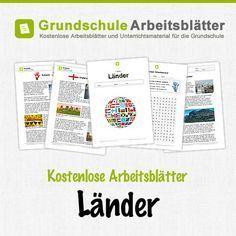 Kostenlose Arbeitsblätter und Unterrichtsmaterial für den Sachunterricht zum Thema Länder in der Grundschule.
