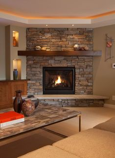 Image result for Angled Fireplace Front Room Ideas