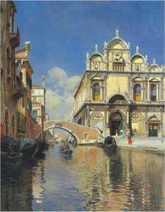 Rubens Santoro – elsewhere Italian Painters, Italian Artist, Ghibli, King Of Italy, Cityscape Art, Virtual Art, Nyc, Beautiful Castles, Traditional Paintings
