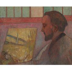 ÉMILE BERNARD 1868 - 1941 PORTRAIT D'ÉMILE SCHUFFENECKER Signed Emile Bernard (on the reverse) Oil on canvas 21 1/8 by 25 5/8 in.