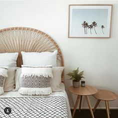 5 Stylish trends you need for your dreamy home this summer - BEDROOM - Design Rattan Furniture Modern Bedroom Decor, Trendy Bedroom, Summer Bedroom, Gray Bedroom, Contemporary Bedroom, Bedroom Colors, Bedroom Furniture, Master Bedroom, Beachy Room