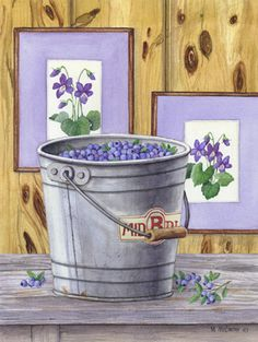 """Blueberries and Violets"" by Maureen McCarthy"