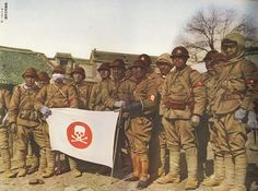 Japanese Army 'Skull Squadron' Manchuria, 1933-Inner Manchuria was thus detached from China by Japan to create a buffer zone to defend Japan from Russia's Southing Strategy and, with Japanese investment and rich natural resources, became an industrial domination. Under Japanese control Manchuria was one of the most brutally run regions in the world, with a systematic campaign of terror and intimidation against the local Russian and Chinese populations including arrests, organised riots -