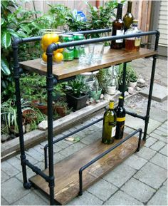 diy bar cart a life designed - might be nice for the pool or deck