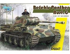 The Dragon 1/35 Befehls Panther Ausf G from the plastic tank model range accurately recreates the real life German WWII tank.