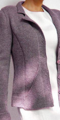 Triangle Jacket pattern by Hinterm Stein - ipek Kolayli. - - Triangle Jacket pattern by Hinterm Stein - ipek Kolayli.Ravelry: Triangle Jacket pattern by von Hinterm Stein [ ✿‿Woollies For Winter⁀✿ Ravelry: Triangle Jacket pattern by von Hinte Knitting Machine Patterns, Knit Patterns, Vogue Patterns, Vintage Patterns, Vintage Sewing, Sewing Patterns, Crochet Cardigan Pattern, Knit Crochet, Ravelry Crochet