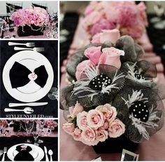 Style Unveiled Chanel Inspired Wedding flowers, mesh flowers...gorgeous! I think this is my fav..