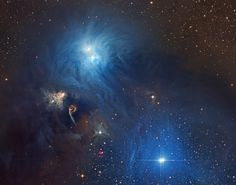 Cosmic dust clouds and young, energetic stars inhabit this telescopic vista, less than 500 light-years away toward the northern boundary of Corona Australis, the Southern Crown. The dust clouds effectively block light from more distant background stars in the Milky Way.