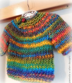 Easy knit and not to much yarn required. My kind of project!
