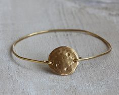 Full moon bangle bracelet by PraxisJewelry on Etsy