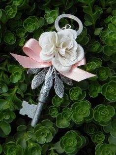 Skeleton Key Boutonniere by http://etsy.com/shop/ForeverBouquet