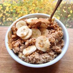 Peanut Butter and Oatmeal Low Calorie Snacks, Healthy Snacks, Healthy Recipes, Healthy Eating, Food Goals, Aesthetic Food, Muesli, Tumblr Food, Food Inspiration