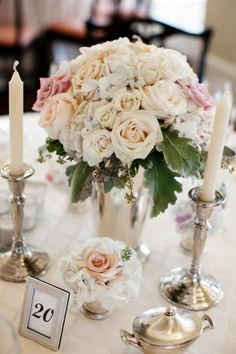Pink-Garden-Rose-Centerpiece-2