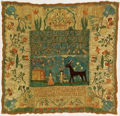 Sampler (1798) by Lydia Stocker (1785 - 1841).