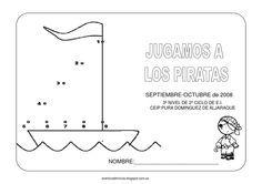 """Fichas pirata aventura diminuta  Proyecto """"Jugamos a los Piratas"""" para Educación Infantil de 5 años.  Aventuradiminuta.blogspot.com"""